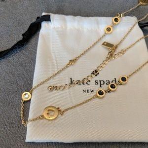 *NEW* ♠️ Kate Spade long 12k gold logo necklace